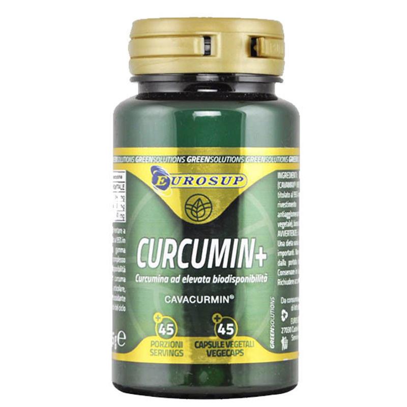 CURCUMIN+ CAVACURMIN 45 Capsule Vegetali - Integratore di Curcumina al elevata biodisponibilità