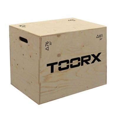 Toorx Plyo box 3 in 1 - Piattaforma per esercizi pliometrici, altezza regolabile 76x61x51 cm