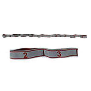 Banda elastica in tessuto con asole, resistenza light 10 kg - Lunghezza 145 cm