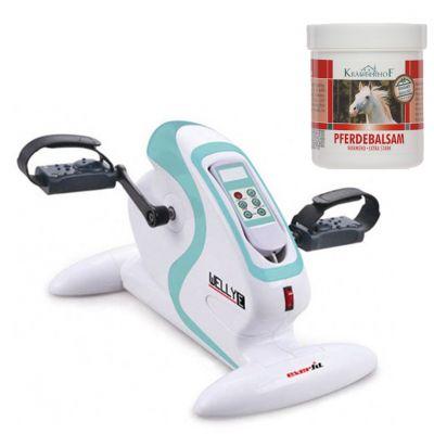 WELLY E EVERFIT Pedaliera elettrica per ginnastica passiva ed assistita + Balsamo Cavallo Riscaldante Extra-Forte