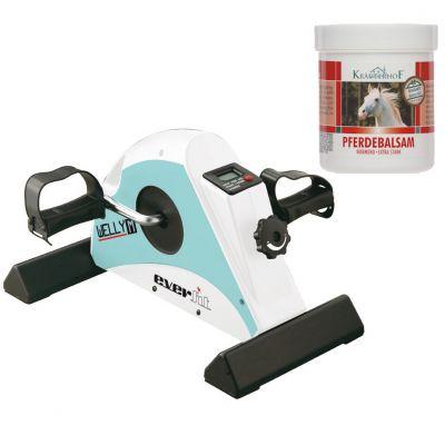 WELLY M Pedaliera Meccanica per allenamenti di riabilitazione e fisioterapia + Balsamo Cavallo Riscaldante Extra-Forte
