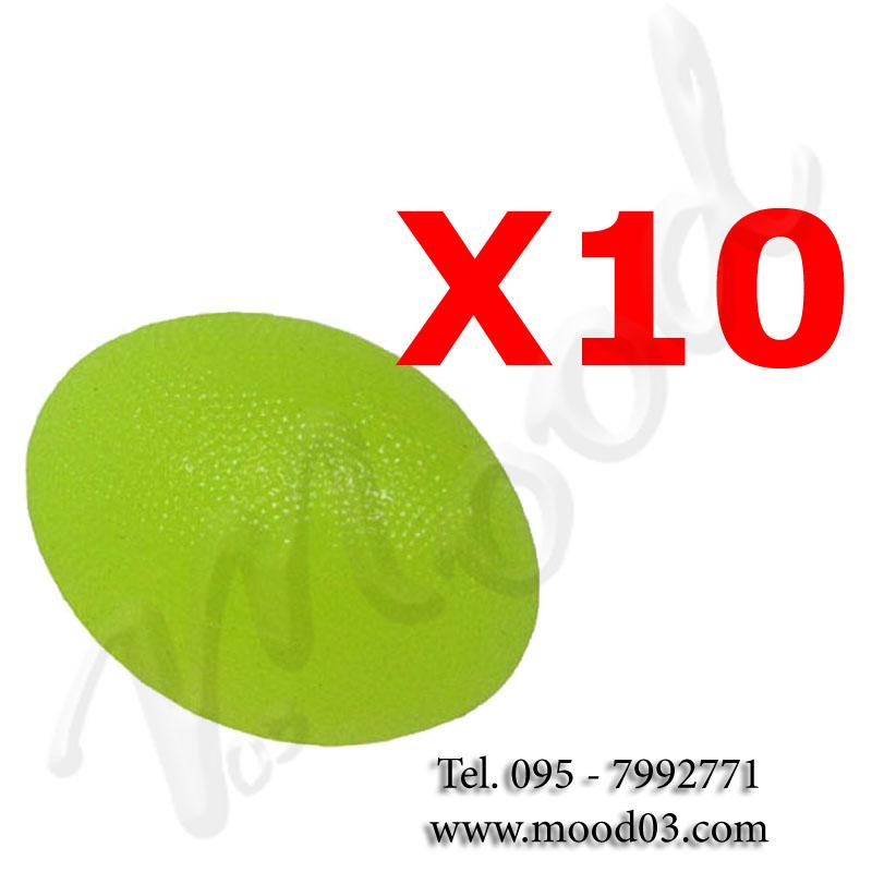 Kir Risparmio con 10 PALLINE RIABILITATIVE OVALI ANTISTRESS - Power Grip Ball per allenare mobilità dita e mani