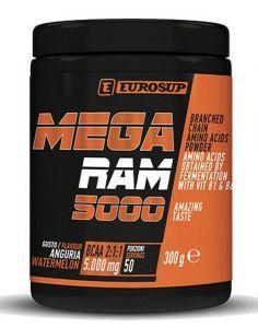 MEGA RAM 5000 300g gusto GRANATINA - Aminoacidi a Catena Ramificata in Polvere Instantaneamente Solubile