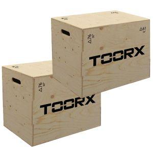 Kit Risparmio con 2 PLYO BOX - Casse Professionali in legno per esercizi pliometrici - Altezza Regolabile 76-61-51 cm