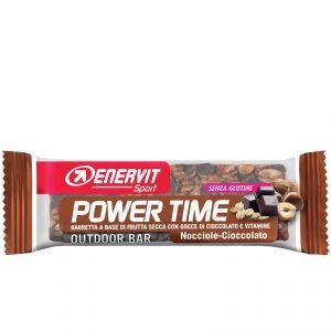 Enervit Sport Power Time Outdoor Bar Nocciola-Cioccolato, barretta energetica da 30 grammi, senza glutine