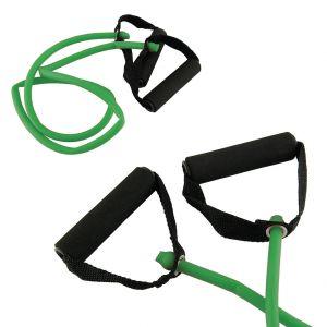 Toorx Tubo elastico con maniglie resistenza medium, colore verde - Lunghezza 120 cm