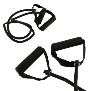 Toorx Tubo elastico con maniglie resistenza strong, colore nero - Lunghezza 120 cm