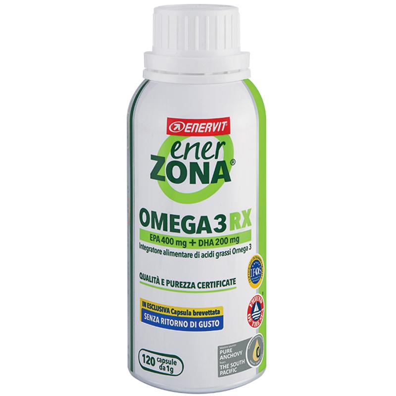 """ENERZONA OMEGA 3 RX in Barattolo da 168 cps (da 1 grammo) - Integratore di acidi grassi Omega 3 """"SENZA RITORNO DI GUSTO"""""""