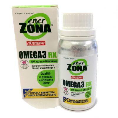 """ENERZONA OMEGA 3 RX in Barattolo da 48 cps (da 1 grammo) - Integratore di acidi grassi Omega 3 """"SENZA RITORNO DI GUSTO"""""""