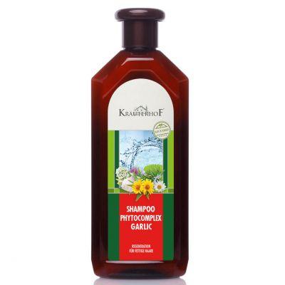 SHAMPOO PHYTOCOMPLEX GARLIC KRAUTERHOF Bottiglia 500ml - Shampoo Rigenerante per Capelli Grassi con Pantenolo e Aglio