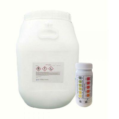 WATER TRIPLEX Secchio 50 kg - Pastiglie Multifunzioni Piscina 3 azioni in 1 + Test Analisi per ph e cloro