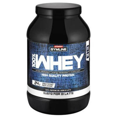 Enervit Gymline Muscle 100% Whey Protein Concentrate Fior di Latte 900 Grammi - Proteine istantanee con Vitamina B6