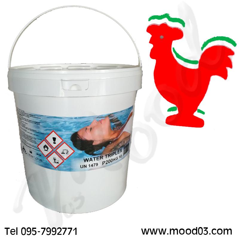 WATER TRIPLEX Cloro Multifunzione 3 in 1 Secchio da 10 kg (50 pastiglie da 200g) + ANIMALETTO GALLEGGIANTE INCLUSO