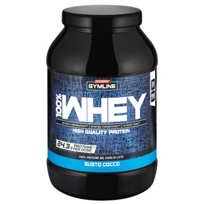 Enervit Gymline Muscle 100% Whey Protein Concentrate Cocco 900 Grammi - Proteine istantanee con Vitamina B6