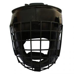METAL HEAD GUARDS TAGLIA L/XL Casco Protettivo in Pelle con Griglia in Metallo ideale per Arti Marziali, MMA, Thai Boxe