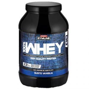 Enervit Gymline Muscle 100% Whey Protein Concentrate Vaniglia 900 Grammi - Proteine istantanee con Vitamina B6