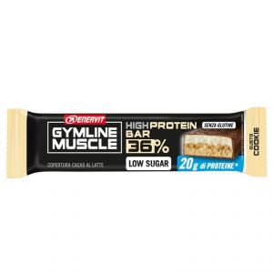 Enervit Gymline High Protein Bar 36% Cookie Senza Glutine - Barretta proteica da 55 grammi