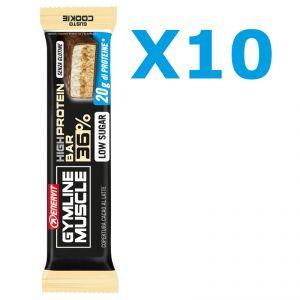 Enervit Gymline High Protein Bar 36% Cookie Senza Glutine - Conf 10 Barrette proteiche da 55 grammi