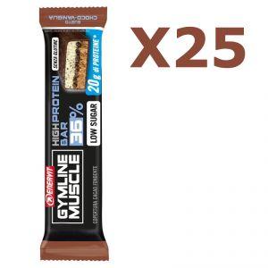Enervit Gymline High Protein Bar 36% Choco-Vaniglia Senza Glutine - Conf 25 Barrette proteiche da 55 grammi
