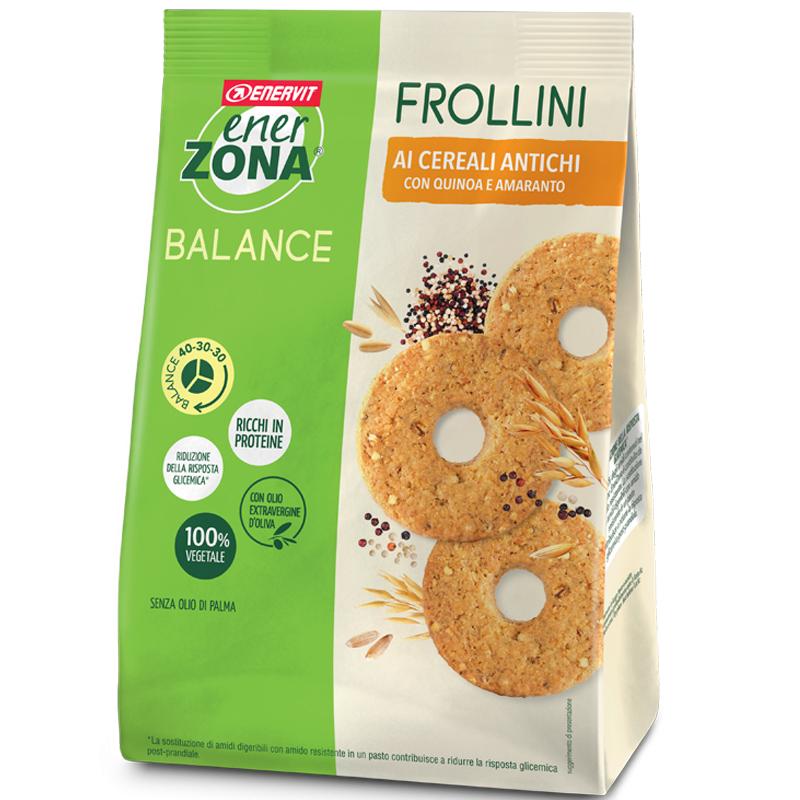 ENERZONA FROLLINI 40-30-30 AI 5 CEREALI ANTICHI Sacchetto 250 grammi con QUINOA e CEREALI - Ricchi in Proteine e Fibre