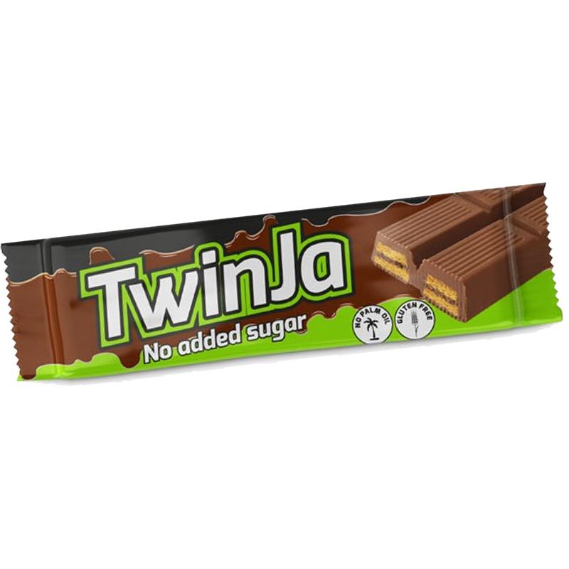 TWINJA DAILY LIFE 21,5 GRAMMI - Snack di wafer ricoperti al cioccolato con il 15% di proteine e senza zuccheri aggiunti