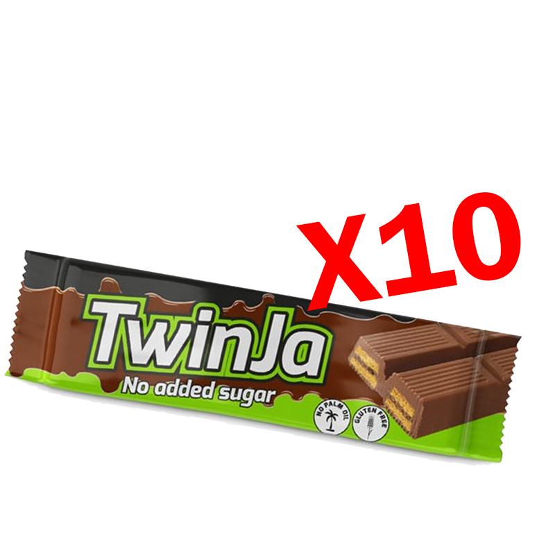 TWINJA DAILY LIFE 10 Barrette da 21,5 g a base di wafer ricoperti al cioccolato senza zuccheri aggiunti