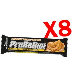 PRORATION ANDERSON 8 SNACK DA 45 GRAMMI GUSTO BURRO D'ARACHIDI - Deliziosa Barretta ad alto contenuto proteico