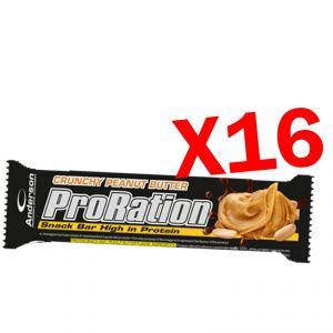 PRORATION ANDERSON BOX CON 16 SNACK DA 45 GRAMMI GUSTO BURRO D'ARACHIDI - Deliziosa Barretta ad alto contenuto proteico