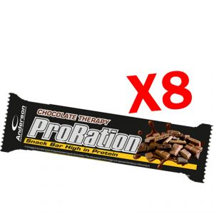 PRORATION ANDERSON 8 SNACK DA 45 GRAMMI GUSTO CIOCCOLATO - Deliziosa Barretta ad alto contenuto proteico