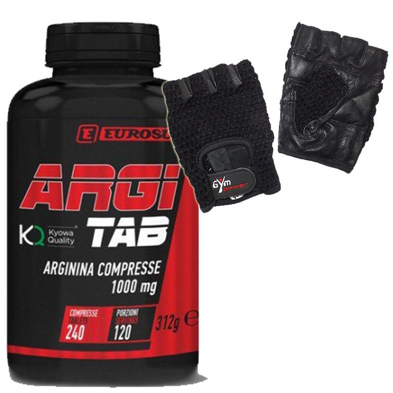 ARGI TAB 240 COMPRESSE EUROSUP PROMO - L-Arginina Kyowa Quality in tavolette da 1000 mg + Guantini Palestra Omaggio