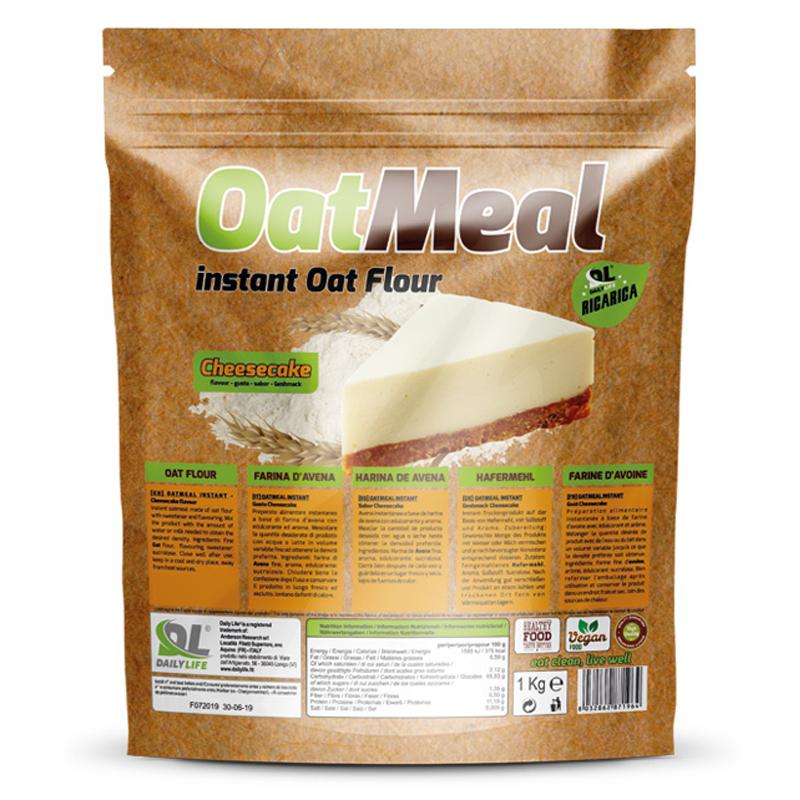 OATMEAL INSTANT DAILY LIFE Busta 1000 grammi gusto CheeseCake - Farina D'Avena Aromatizzata ricco in Proteine e Fibre