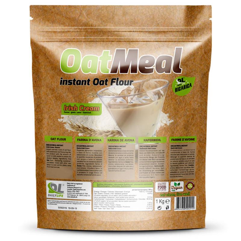 OATMEAL INSTANT DAILY LIFE Busta 1000 grammi gusto Irish Cream - Farina D'Avena Aromatizzata ricco in Proteine e Fibre