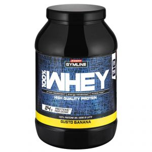 Enervit Gymline Muscle 100% Whey Protein Concentrate Banana 900 Grammi - Proteine istantanee con Vitamina B6