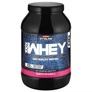 Enervit Gymline Muscle 100% Whey Protein Concentrate Fragola 900 Grammi - Proteine istantanee con Vitamina B6