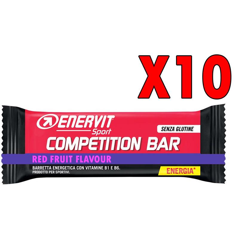 COMPETITION BAR AI FRUTTI DI BOSCO ENERVIT SPORT - Confezione 10 Barrette Energetiche Gluten Free con Vit. B1 e B6