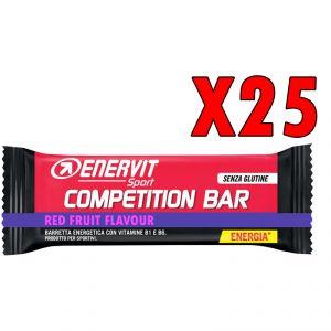 COMPETITION BAR REDFRUIT SENZA GLUTINE ENERVIT SPORT - Confezione 25 Snack Energetici da 30 g con Vit B1 e B6