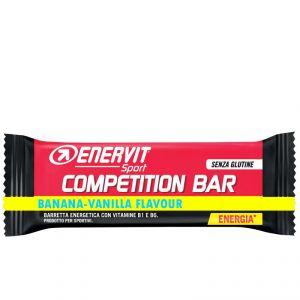 COMPETITION BAR BANANA-VANILLA SENZA GLUTINE ENERVIT SPORT - Barretta Energetica da 30 Grammi con Vitamina B1 e B2