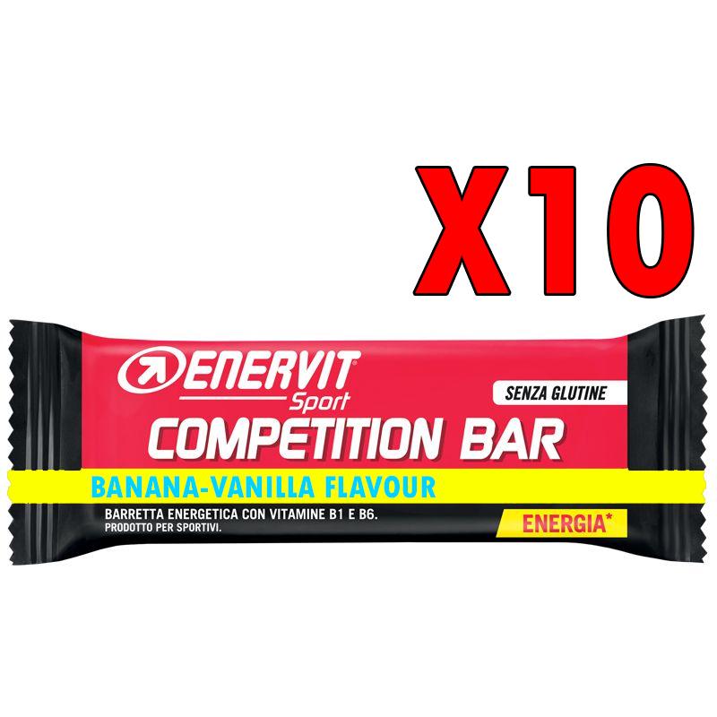 COMPETITION BAR BANANA-VANILLA SENZA GLUTINE ENERVIT SPORT - 10 Barrette Energetiche da 30 Grammi con Vitamina B1 e B2