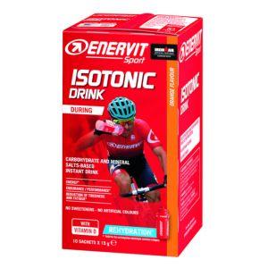 Enervit Sport Isotonic Drink Arancia, 10 buste monodose da 15 gr - Granulato per la preparazione di bevande energetiche