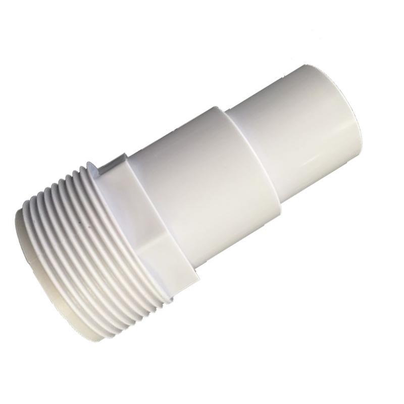 Adattatore di ricambio per skimmer con portagomma per tubo sezionabile 32 e 38 cm