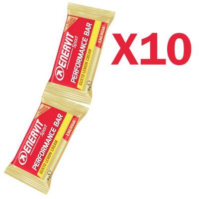 Enervit Performance Bar Double gusto lemon cream, 10 barrette con 2 porzioni da 30 grammi