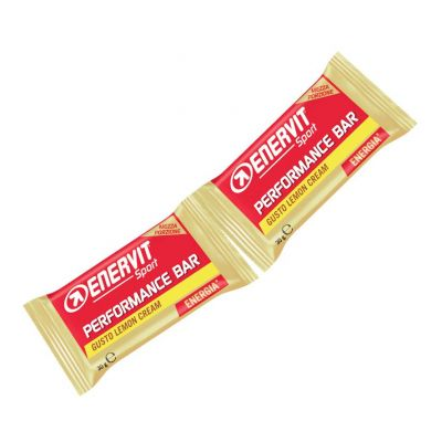 Enervit Performance Bar Double gusto lemon cream, barretta con 2 porzioni da 30 grammi
