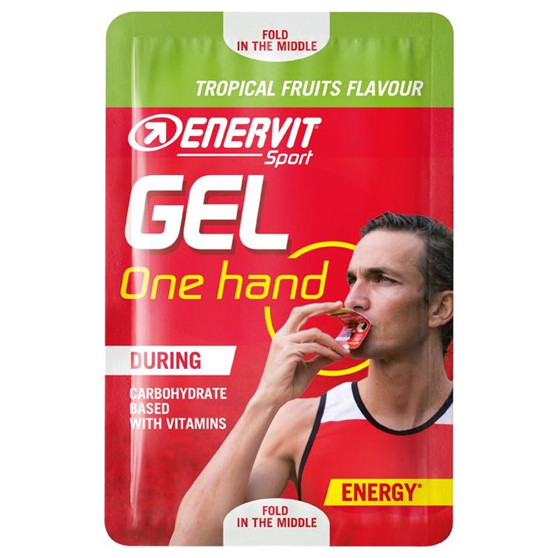 GEL ONE HAND ENERVIT SPORT Gusto Frutti Tropicali Easysnap da 12,5 ml - Energetico a base di Carboidrati e Vitamine