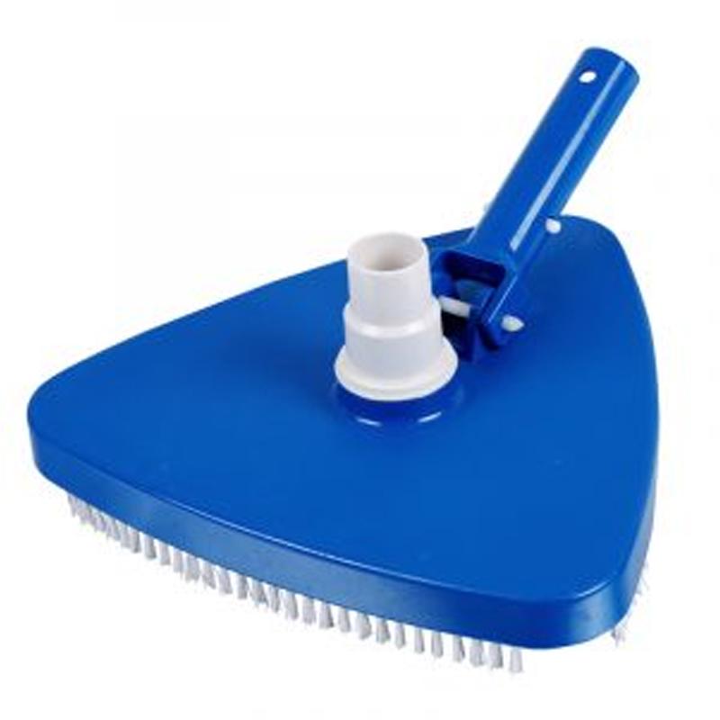 TESTA ASPIRAFANGO TRIANGOLARE CON SPAZZOLE BLUE BAY - Pulitore aspiratore appesantito per piscina