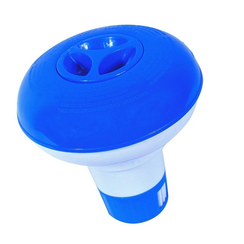 MINI DOSATORE GALLEGGIANTE BLUE BAY - Dispenser da 13 cm circa per pastiglie di cloro o bromo