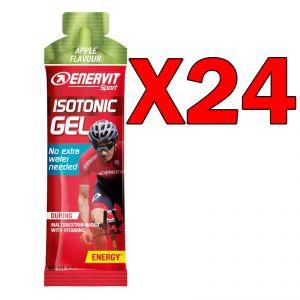 ISOTONIC GEL APPLE FLAVOUR ENERVIT 24 Pack da 60 ML - Formula Isotonica in gel a base di Maltodestrine, gusto Mela