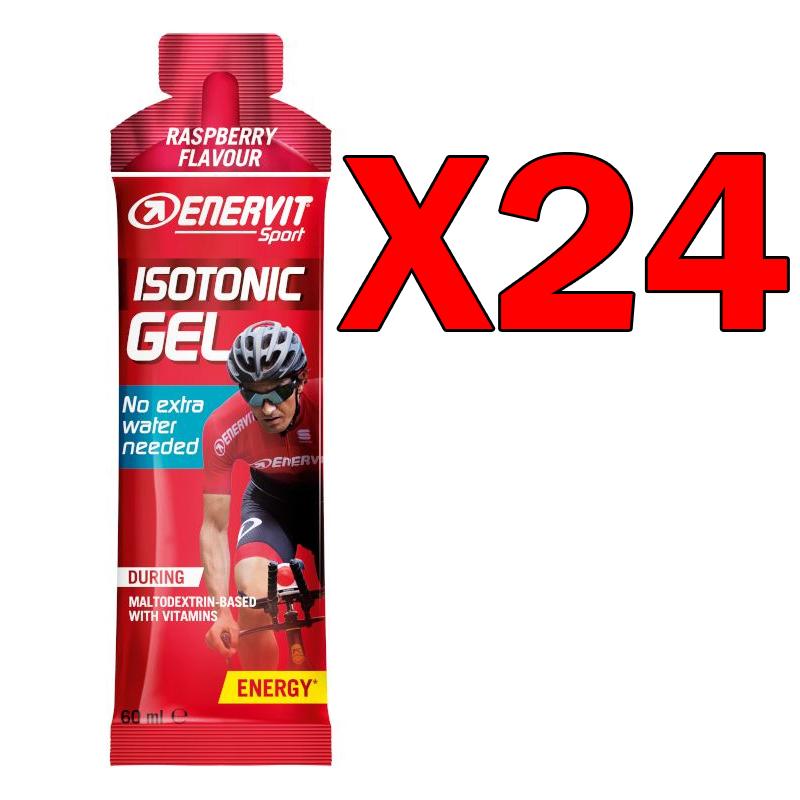 ISOTONIC GEL RASPBERRY FLAVOUR ENERVIT 24 pack da 60 ML - Formula Isotonica in gel a base di Maltodestrine gusto Lampone