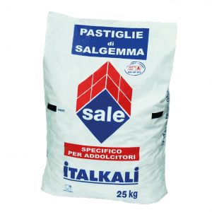 PASTIGLIE DI SALGEMMA ITALKALI SACCO 25 KG - Sale 100% naturale specifico per addolcitori e generatori di cloro