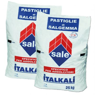 2 Sacchi da 25 kg di Sale in Pastiglie ideale per Piscine e Trattamenti Industriali - Sale di qualità superiore