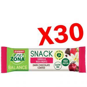 SNACK BALANCE 40-30-30 ENERZONA VANILLA RED FRUIT 30 Barrette da 33 g - Snack Proteine alla Vaniglia e Frutti Rossi